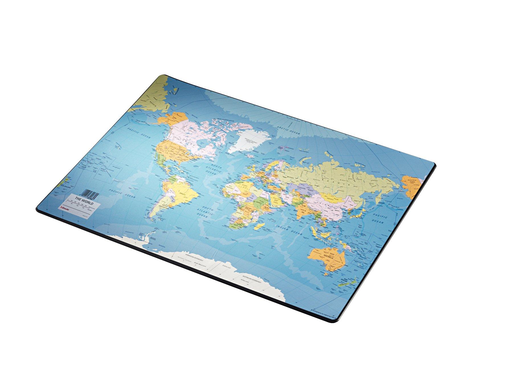 Esselte Vade de escritorio, Mapa del mundo, 40x53cm, Plástico, Europost, 32186: Amazon.es: Oficina y papelería