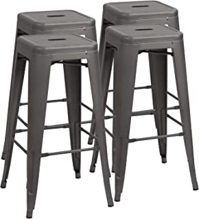 Admirable Grey Home Kitchen Bar Stools Amazon Com Beatyapartments Chair Design Images Beatyapartmentscom