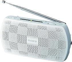 Sony SRF18W - Radio portátil (FM estéreo, 2xAA), Blanco