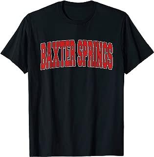 BAXTER SPRINGS KS KANSAS Varsity Style USA Vintage Sports T-Shirt