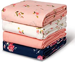 Momcozy Muslin Swaddle Blanket Baby Girl Newborn, 4 Pack Large Wrap Swaddle Blankets Soft Silky Breathable (70% Bamboo + 3...