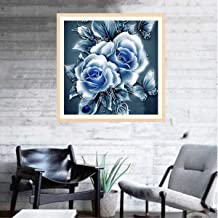 NXKang 5D DIY Nature Diamond Painting Peony Flowers Cross Stitch Kits Full Drill Crystal Rhinestone Embroidery