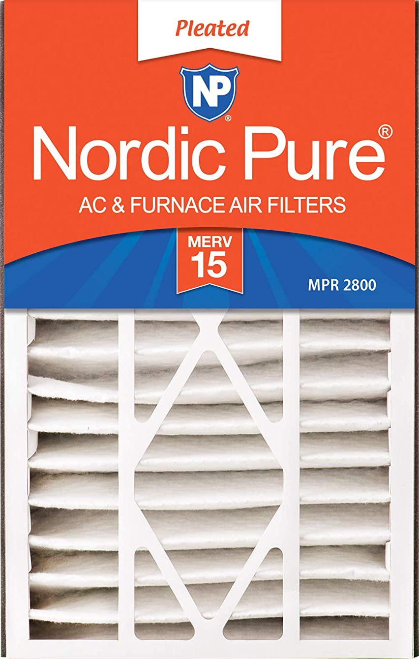 Nordic Pure 16x25x5 (4-7/8 Actual Depth) MERV 15 Trion Bear 266649-105 Replacement Pleated AC Furnace Air Filter, 1 Pack