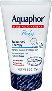 Aquaphor Baby Healing Ointment - Advanced Therapy for Chapped Cheeks and Diaper Rash - 3 oz. Tube