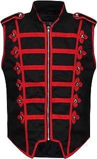 Men's Marching Band Vest Drummer Sleeveless Parade Jacket