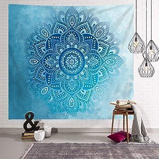 Bubinix Tapiz de Pared para Dormitorio, salón, Colgante, Indio, Bohemio, Cielo Estrellado, Mandala, Elefante, Bosque Tapices Alfombra de Pared 180 x 230 cm (Style 7)