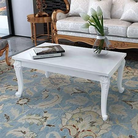 Couchtisch Wohnzimmertisch 60 cm Beistelltisch Sofa Kaffee Tisch Weiß /& Schwarz