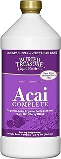 Buried Treasure - Acai Complete Super Fruit Blend of Organic Acai Organic Pomegranate Goji Berry and Ultra Berry Blend - Liquid 32oz Bottle - Super Antioxidant Supplement - Non-GMO Keto-friendly