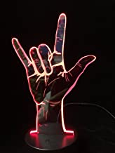 3D Night Light Sign Language I Love You Or Victory Yes Led Lamp Table USB Operated Romantic Party Holiday Valentine's Day Gift WGWNYN