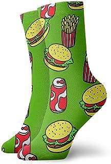 Unisex Cola Fries Sandwich Crew Calcetines Cute Crazy Socks Quality Mini-Crew Sport Socks