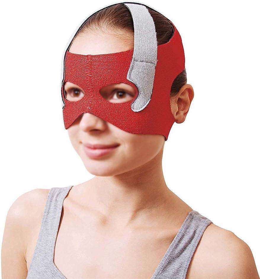 怒って傭兵吸収剤美容と実用的なフェイスリフトマスク、回復ポスト包帯ヘッドギアフェイスマスク顔薄いフェイスマスクアーティファクト美容ベルト顔と首リフト顔周囲57-68 cm