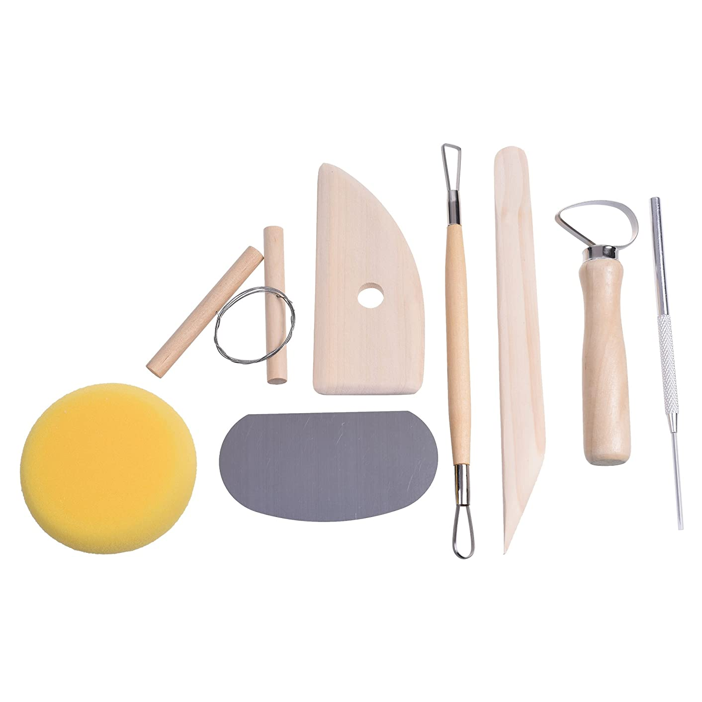 COSMOS Pottery Tool Kit 8 pcs Set for Clay, Sculpting, Ceramic, Mud, Plaster