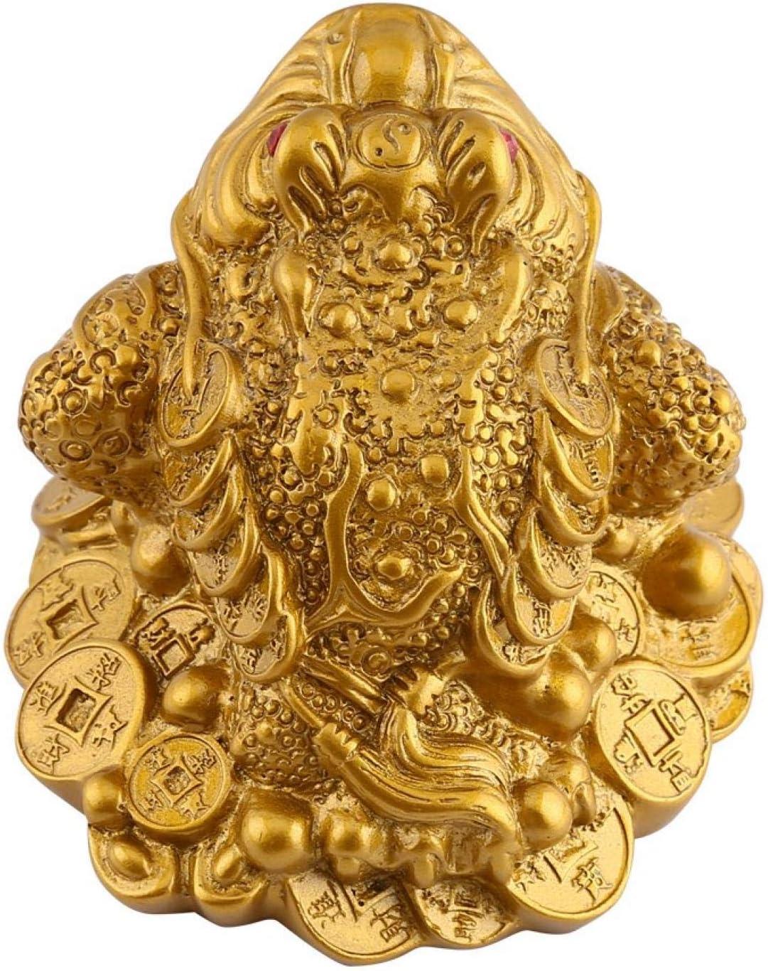 decoraci/ón de la Oficina en el hogar Cobre de imitaci/ón Buen Regalo de la Suerte sapos de Monedas BIKING Ranas de Dinero Ranas de Dinero de la Suerte fengs Chinos Shui Riqueza