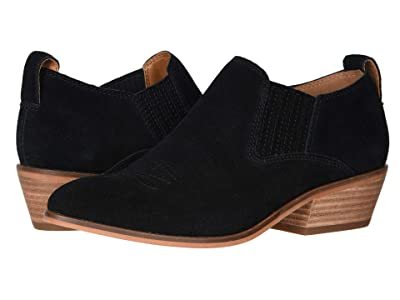 FRYE AND CO. Rubie Western Slip-On (Black Suede) Women