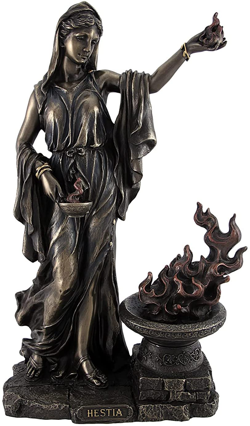 Veronese Design Outlet sale feature Greek Goddess Hestia Vesta Bronzed Roman We OFFer at cheap prices Statue