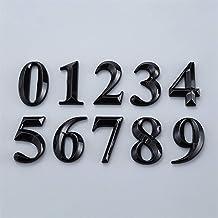 Bclla Zhyaoyao-huis nummer 0 tot 9 Plastic Numeral Deurplaat Huis Lade Teken Plating Home Office Sticker Adres Deur Label,...