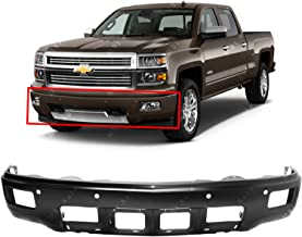 MBI AUTO - Primered, Steel Front Bumper Face Bar Shell for 2014 2015 Silverado 1500 High Country Pickup W/Park 14 15, GM1002853