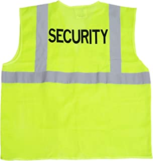 JORESTECH High Visibility Custom Heat Transfer Printed Reflective Safety Hi Vis Vest (Large to Extra Large, Security)