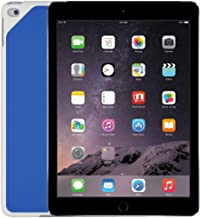 "Apple iPad Air 2 9.7"" Tablet - 64GB, WiFi, Space Gray - Bundle with Logitech Blue Hinge Flex Case (Renewed)"