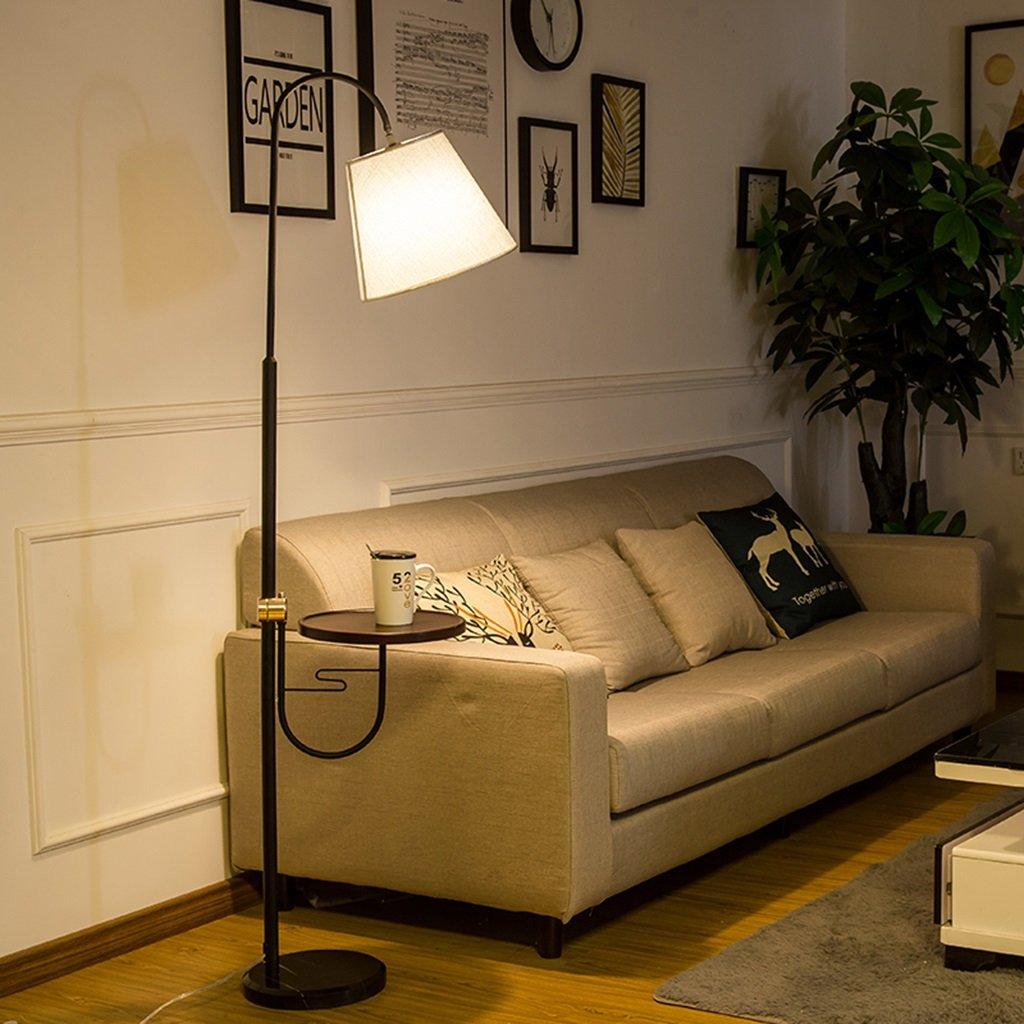 Luces de piso Lámpara de pie, sala de estar Sofá Dormitorio de luz Lámpara de mesita Lámpara de mesa de café E27 220V (Color : Trichromatic light 8W): Amazon.es: Hogar