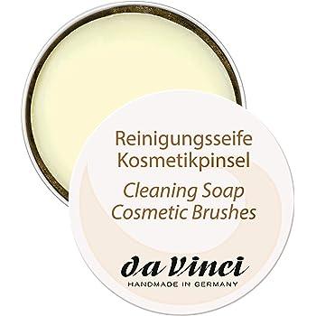 Da Vinci Reinigungsseife Für Kosmetikpinsel & Beautyblender, 40 g, Vegan, 1 Stück