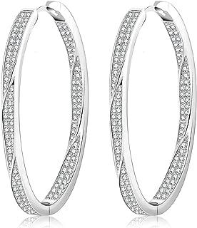 Fashion Gold Silver Hoop Earrings Hypoallergenic High Polished Dangle Drop Minimalist Hoops Earrings for Women Girls Dainty-Large 10-70mm