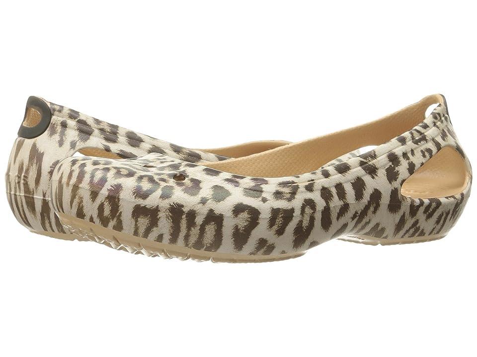 Crocs Kadee Graphic Flat (Leopard) Women