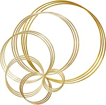 18pcs Gold Dream Catcher Metal Rings Supplies Metal Crafts Hoops Wreath Macrame Creations Ring for DIY Crafts Dream Catche...