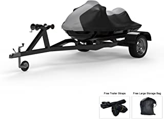 Weatherproof Jet Ski Covers for Yamaha Wave Runner FX Cruiser HO 2012-2018 - 4 Color Option - All Weather - Trailerable - Protects from Rain, Sun, and More! Includes Trailer Straps and Storage Bag