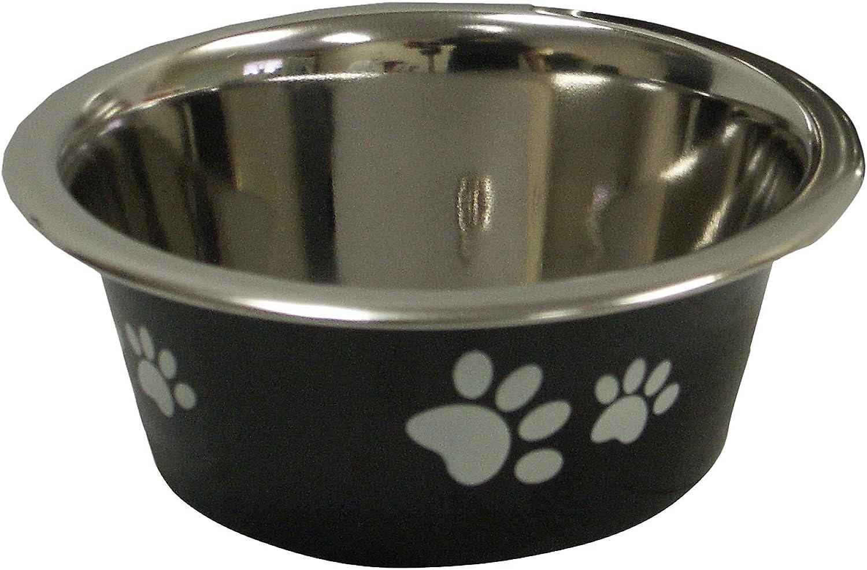Cadet Stainless Steel Dog Bowl, 1Pint, Black