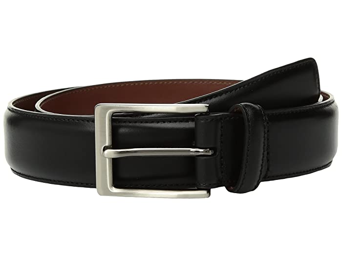 Perry Ellis Portfolio  Tan with Burnished Edge Dress Belt (Black) Mens Belts