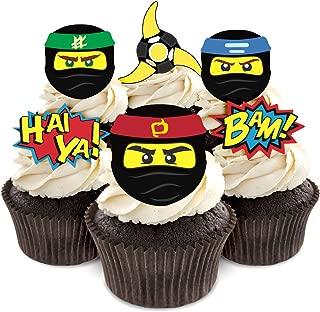 Ninja Cupcake Toppers for Ninja Birthday Party Supplies
