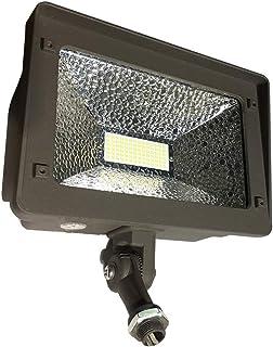 JMKMGL LED Flood Light Dusk to Dawn, 180° Adjustable Arm, 50W (250W Equivalent), Waterproof Outdoor Landscape Exterior Led Flood Light, 5000K 5500lm 100-277Vac ETL Qualified DLC Listed (Photocell)