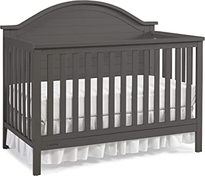 Fisher-Price Raleigh 4-in-1 Convertible Crib, Fog Grey