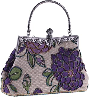 Clutch Bag,Chinese Style Women Handbag,Embroidery Ethnic Ladies Shoulder Bags Cross-Body,for Wedding, Party, Dinner, Etc