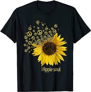Hippie gypsy soul sunflower flower girl piece lover t shirt