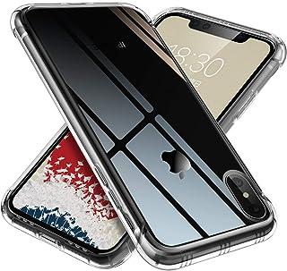 【ONES】 iPhone Xs/X ケース 高透明 米軍MIL規格〔耐衝撃、レンズ保護、滑り止め、軽い、フィット感〕『エアクッション技術、半密閉音室、Qi充電』 クリア カバー Airシリーズ