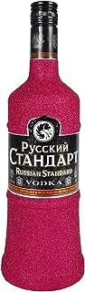 Russian Standard Vodka 0,7l 700ml 40% Vol Bling Bling Glitzerflasche in hot pink -Enthält Sulfite