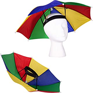 """13"""" Rainbow Umbrella Hat for Adults and Kids"""