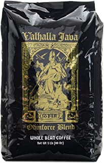 Valhalla Java Whole Bean Coffee by Death Wish Coffee, Fair Trade and USDA Certified Organic - 5 Lb Bag