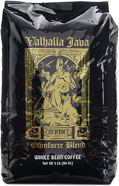 Valhalla Java Whole Bean Coffee By Death Wish Coffee Fair Trade And USDA Certified Organic 5 Lb Bag