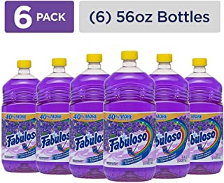 Fabuloso All Purpose Cleaner, Lavender, Bathroom Cleaner, Toilet Cleaner, Floor Cleaner, Shower and Glass Cleaner, Mop Cleanser, Kitchen Pots and Pans Degreaser, 56 Fluid Ounce (2 Packs of 6)