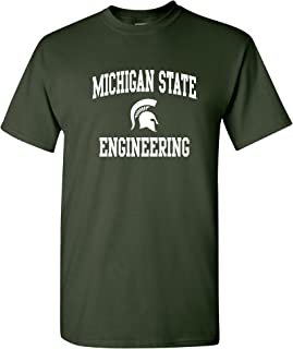 Michigan State Spartans Arch Logo Departments, College T Shirt, Team Color