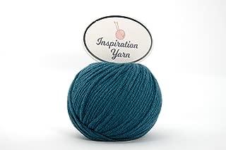 Inspiration Yarn 100% Cashmere Yarn/Needle Size 4mm/63 yards/25 Grams (DK) (Teal, DK)