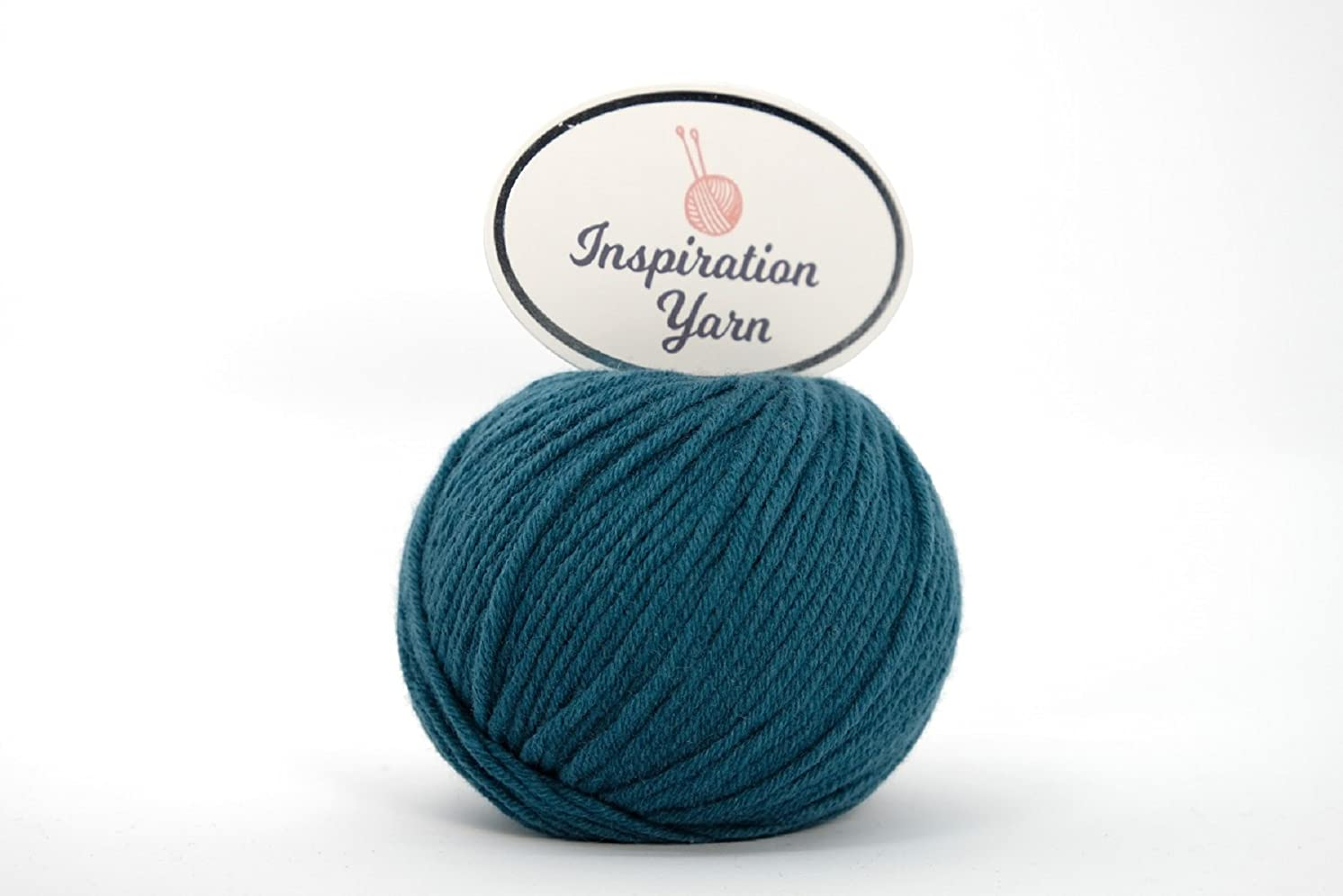Inspiration Yarn 100% Cashmere Yarn/Needle Size 4mm/63 yards/25 Grams (DK) (Teal, DK)