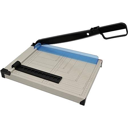 Massicot A4 compact, coupe-papier en métal, machine à découper pour photos, papier, carton jusqu'à 160 g/m² et papier, jusqu'à 6-8 feuilles en 80 g/m²