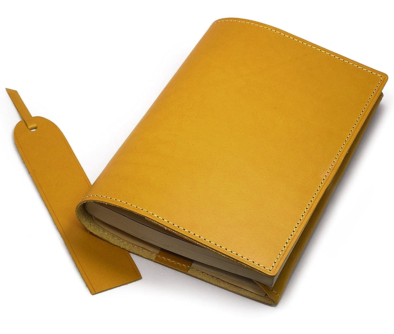 環境罹患率バングラデシュアクュード Cookday 本革 ブックカバー(文庫本サイズ)ブッテーロ革 マスタード CC-2