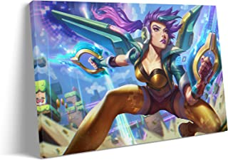 Cool Wall Art for Living Room - Daughter of The Void Arcade Kai'sa Marksman MOBA Game Poster : Canvas Prints Art for Bedro...