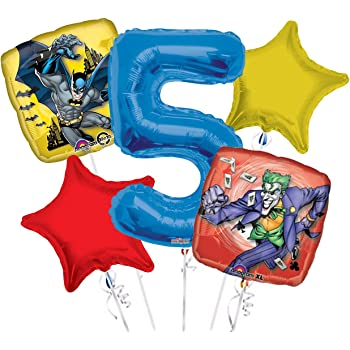 1 BATMAN Bat Man Wings /& Joker Square Shaped 18 Party Mylar Foil Balloon LGP