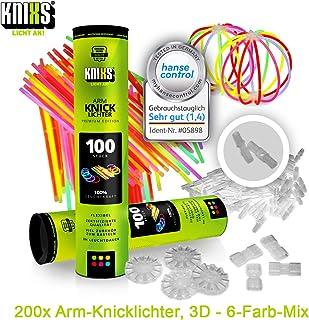 KNIXS - 200 luces de pliegue, durante 10 años en la calidad de profesional, la nota de prueba alemana: 1,6 / con eso 200 indios de verbo x 3D + 4 indios de verbo de pelota por separado, 6 colores MEZCLA SOBERBIA